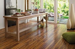 Dark Floor Wood Table Terrass